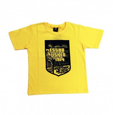 """T-shirt παιδικό """"Established in 1914"""" κίτρινο"""
