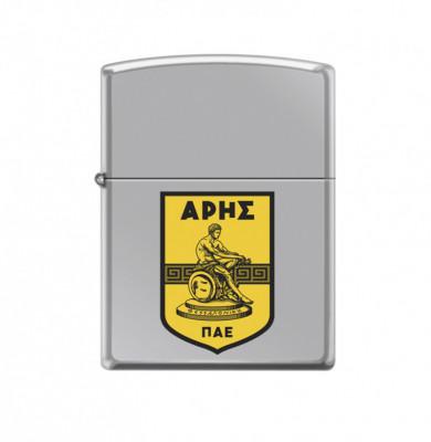 ZIPPO Ασημί γυαλιστερός με έγχρωμο λογότυπο #250