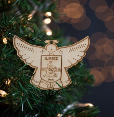 Ξύλινο Χριστουγεννιάτικο Στολίδι 8cm ΑΓΓΕΛΟΣ ΑΡΗΣ