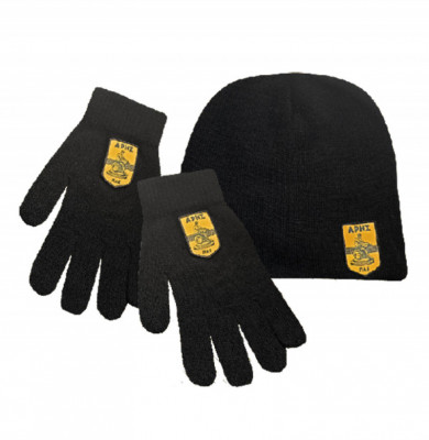 ΣΕΤ Γάντια πλεκτά & σκούφος ARIS FC με κέντημα
