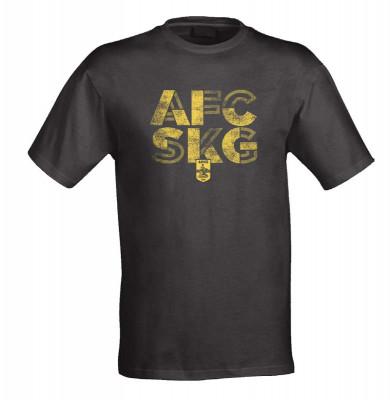 "T-SHIRT ΠΑΙΔΙΚΟ ΜΑΥΡΟ ""AFC SKG"""